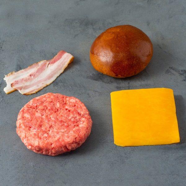 Kit 481 Burger Pão, Carne, Queijo e Bacon