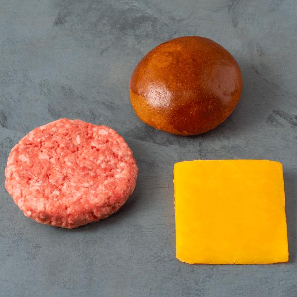 Kit 481 Burger de Picanha Pão, Carne e Queijo