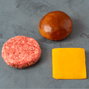 Kit Hambúrguer de Brisket, Cheddar Inglês e Pão