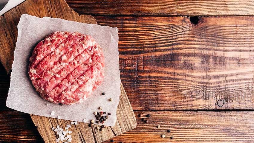 carne para fazer hambúrguer